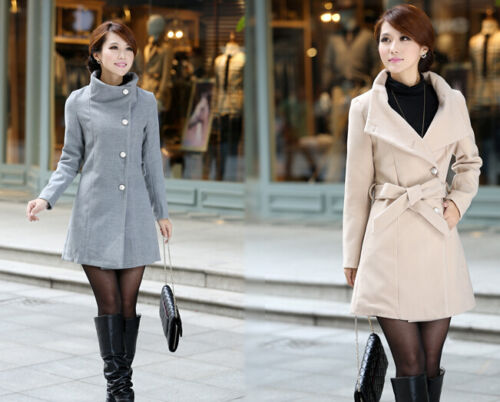 Giacca giaccone cappotto cappottino lungo elegante donna morbido caldo beige 094