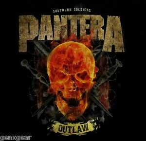 PANTERA-cd-lgo-OUTLAW-SKULL-Official-SHIRT-SMALL-New-southern-soldiers