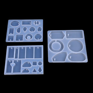 3pcs Silicone Jewelry Mould Mirror Mold Tools for DIY Jewelry Making Crafts