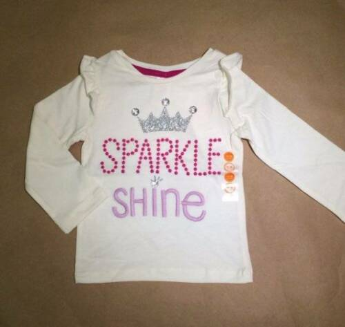NWT Gymboree Girls Woodland Wonder White Sparkle Shine Top Size 12-18 M