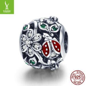 925-Sterling-Silver-Flower-Wonderland-Zirconia-Charm-Bead-Fit-Chain-Bracelet