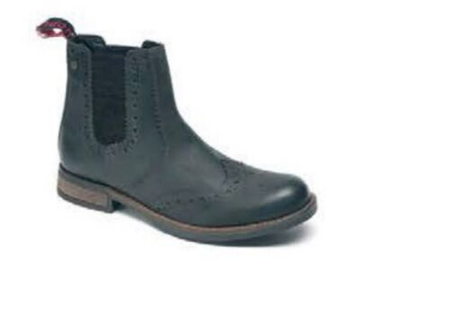 Para Hombre Catesby CX07 parte superior de cuero negro Botas Distribuidor Chelsea Brogue tamaños de 7-12