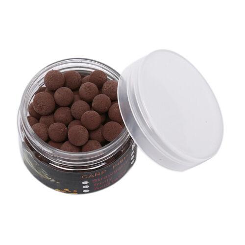 80pcs//box 8mm Smell Ups Carp Fishing Bait Boilies Floating Ball Beads Feedeha