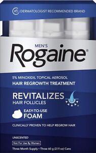 Rogaine-Hair-Regrowth-Men-5-Minoxidil-Foam-3-month-Exp-2020-FREE-SHIPPING