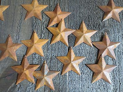 Lot 100 Rusty Barn Stars 2.25 inch Primitive Country Rusted Tin Metal Americana