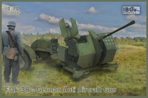 2 in the box - 1:72 Flak 38 German Anti Aircraft Gun IBG 72076