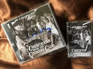 LANA DEL REY SIGNED BUNDLE. CHEMTRAILS CD & CASSETTE. NEW. U.K. EXC.