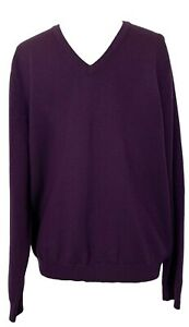 BROOKS-BROTHERS-MEN-039-S-PURPLE-WOOL-V-NECK-SWEATER-L-200