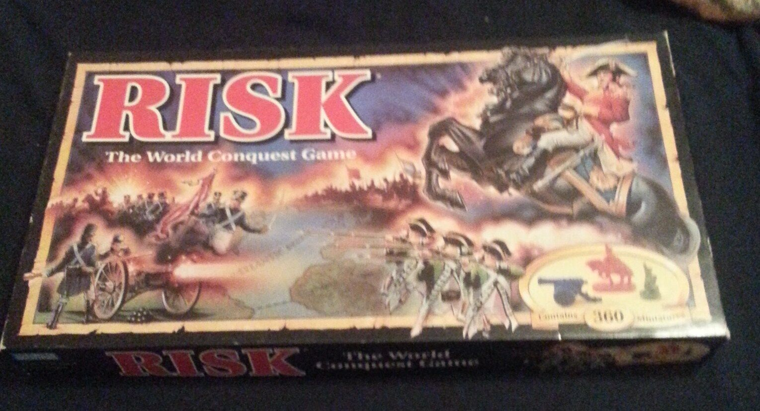 RISK World Conquest Board Game  Parker Bredhers unplayed,unpunched.
