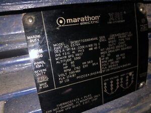 Marathon Electric 75 HP Severe Duty Motor Model SK365TTGS16540ANL Used