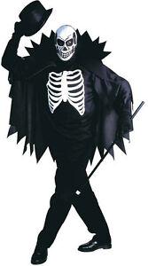 Esqueleto-en-blanco-Traje-NUEVO-Hombre-Carnaval-Traje-De-Disfraz