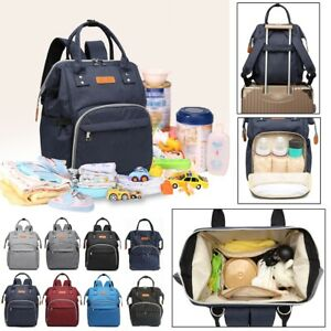 LEQUEEN-Mummy-Maternity-Nappy-Diaper-Bag-Baby-Large-Oxford-Changing