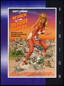 ATTACK-OF-THE-50-FOOT-WOMAN-Original-1993-Trade-print-AD-poster-DARYL-HANNAH
