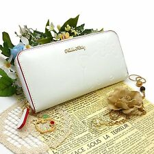 New! Hello Kitty Ladies Purse HKC2-11 WH White round small wallet from Japan F/S