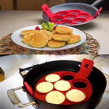 Non Stick Pancake Pan Perfect Breakfast Maker Egg Ring Omelette Flipjack Tools