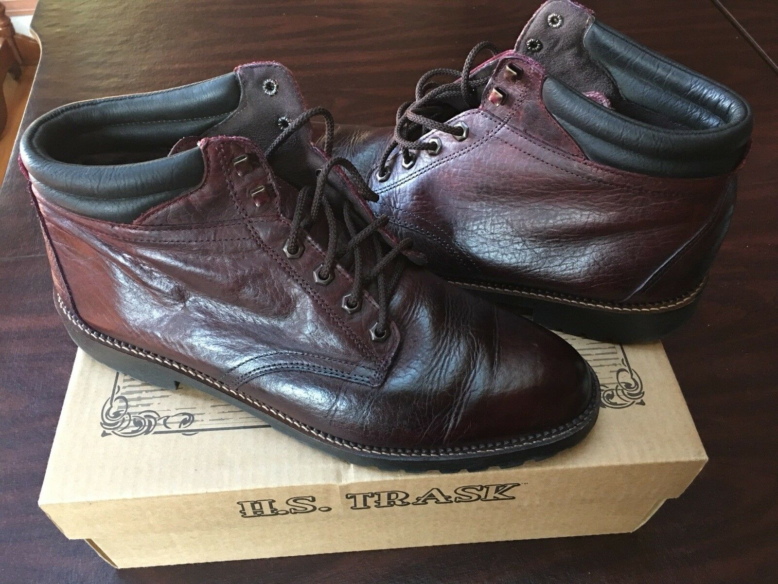 Men Boots, H.S. TRASK, Made In USA, Size 13 M