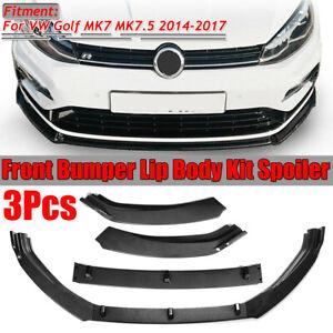 3pc-Carbon-Fiber-Style-Front-Bumper-Lip-Spoiler-For-VW-Golf-MK7-MK7-5
