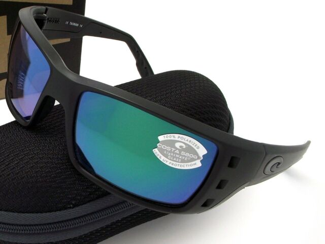 c51b2f4eba7 Costa Del Mar Permit Blackout Frame Green 580g Polarized Glass ...