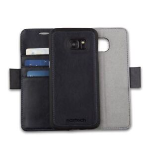 premium selection cce54 ea9a9 Details about Samsung Galaxy S7 Leather Wallet w/Removable Cell Phone Case  & Magnetic Closure