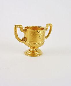 Dollhouse Miniature Golden Trophy Loving Cup, 2703
