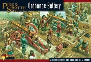 Warlord Games Pique & Shotte Ordnance Batterie 28mm Dessus De Table 17th