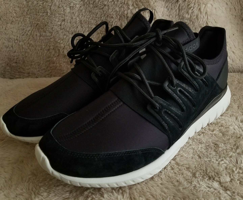 Adidas Men Tubular Radial Black Core Black Crystal White Size 12