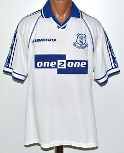 Everton 1998 1999 Away Football Shirt Jersey Umbro Size L Adult Ebay