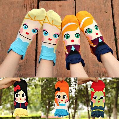 Creative Girls Cartoon Princess Cotton Blends Short Socks Low Cut Ankle Socks