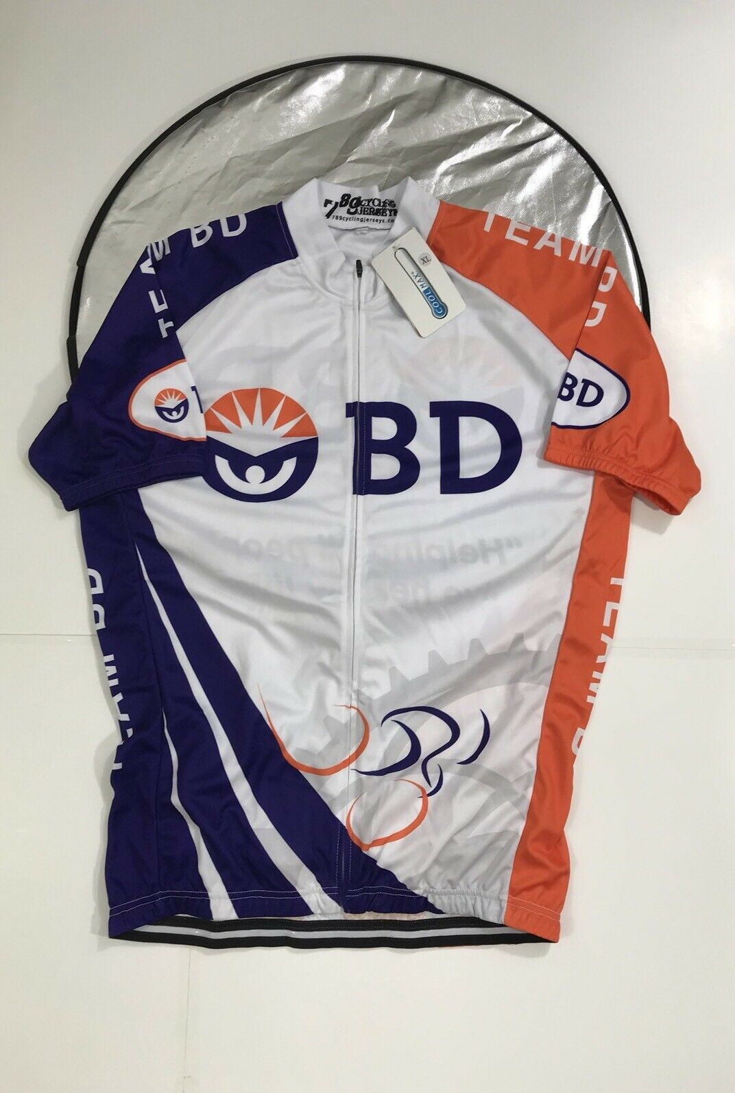 789 Cyling jersey BD   helping all people live healthy  Jersey size XL  buy discounts