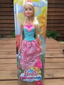 NEW Barbie Dreamtopia Blonde Hair Pink And Blue Dress Dreamy Princess Doll