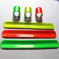 10 X Assorted Night Reflective safety Magic Slap Band Bracelets toy bangle