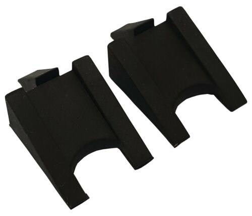 """ACCLAIM Wedges Twin Set Bowlers Solid Rubber Two Sided Cut Out Angled 2.5/""""x1.5/"""""""