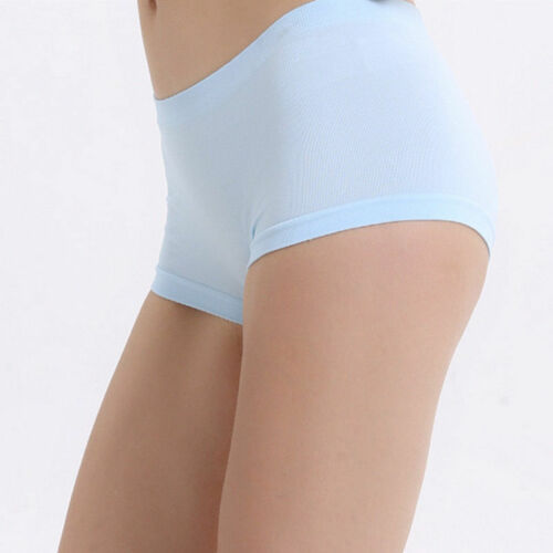 New Women Yoga Seamless Underwear Boxers Panties Sports Shorts Solid Casual