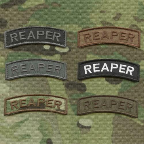 reaper tab embroidered tactical morale badge military US hook-and-loop patch