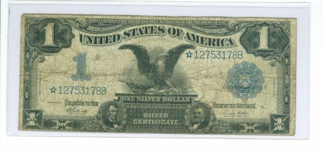 1899 $1 *STAR* Mule ((Black Eagle)) Silver Certificate Elliott-White 25 Known!