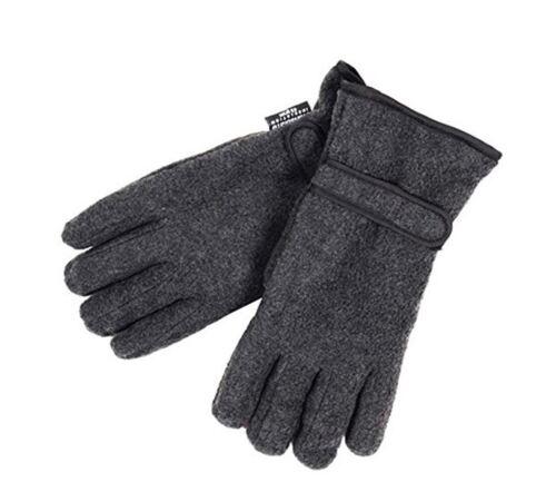 Da Uomo Termici Thinsulate Guanti Invernali in Pile con i Grip Palm-Antracite o Nero