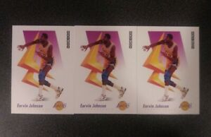 1991-EARVIN-034-MAGIC-034-JOHNSON-SKYBOX-Basketball-Card-137-LOS-ANGELES-LAKERS-x3