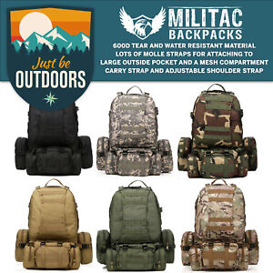 bbc733a52d5b 50L Molle Tactical 3 Day Assault Military Rucksack  Army Backpack ...