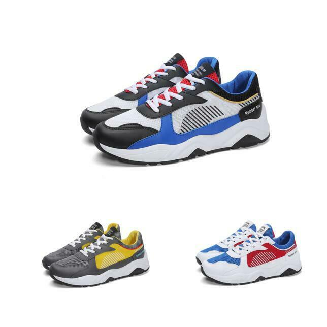 Mens Athletic Match color  Lace Up Breathable Outdoor Running Sneakers shoes New