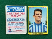 CALCIATORI 1966/67 66/1967 LECCO Sergio CLERICI Figurina Sticker Panini (NEW)