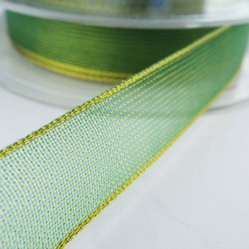 CLEAROUT 18 Styles Christmas Ribbon Green Gold Decoration Bow BUY 1 2 4 8m
