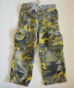 Mini Boden Boys Vintage Zip Off Techno Cargo Pants Camouflage Camo