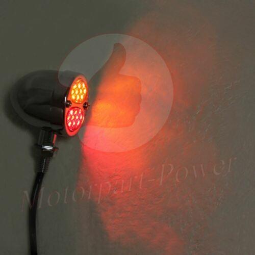 Pair  Motorcycle LED Turn Signal Lamp Bullet Brake Running Indicator Light Amber