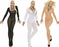 Opaque Long Sleeve Bodystocking Em1606