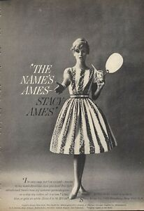 1960 Print Damenmode Ames Stacy Kleid Kleidung Ad frfHqB