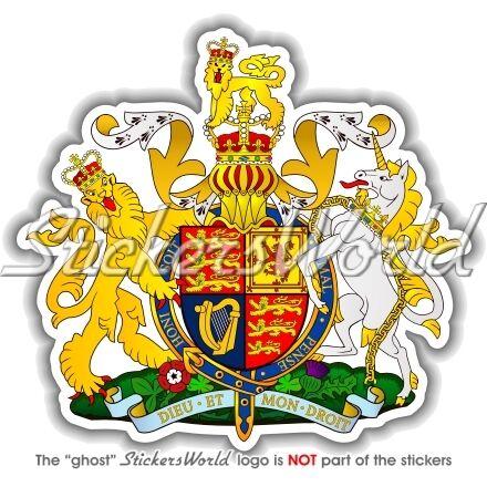 United kingdom royal coat of arms uk british vinyl bumper sticker decal