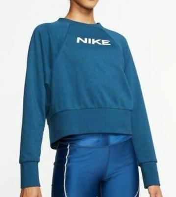 hombro Camion pesado Finalmente  NWT Nike Women's Swoosh Crew Fleece Sweatshirt Teal White CQ9305-432 XL  193655639432 | eBay
