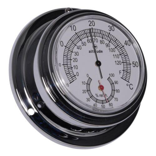 Altitude 843TH Schiffsthermometer Hygrometer Chrom 95mm
