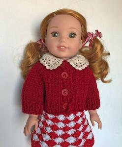 Knit-Sweater-Clothes-for-American-Girl-Wellie-Wishers-Hearts-For-Hearts-Doll-New