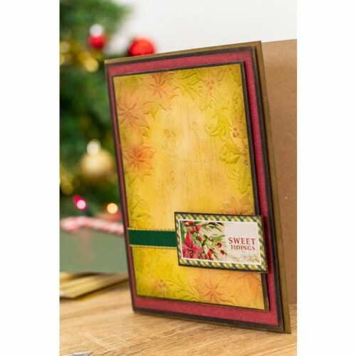 POINSETTIA PERFECTION COLLECTION EMBOSSING FOLDER U-PIC METAL DIES-STAMP /& DIE